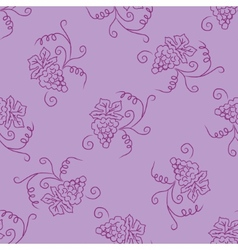Hand drawing simple grape pattern vector image vector image