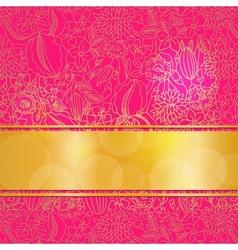 Pink ornamental card vector image vector image