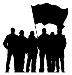 silhouettes of protesters vector image