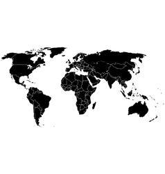 World map on a white background vector image