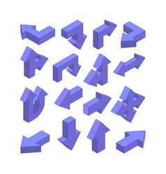 3d pictures various arrows vector image