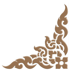 3d thai pattern carve vector