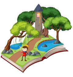A book fairy tale story vector
