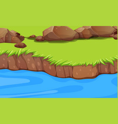 A river bank background vector