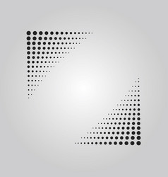 abstract black halftone effect corner banner vector image
