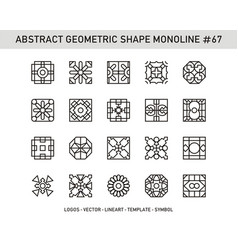 Abstract geometric shape monoline 67 vector