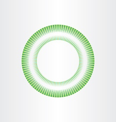 abstract green circle background element design vector image