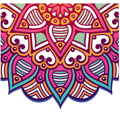 abstract mandala pink flower design image vector image