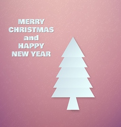 Abstract Paper Chrismas Tree vector
