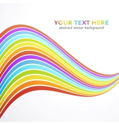 Abstract wave rainbow background vector