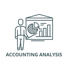 accounting analysis line icon accounting vector image