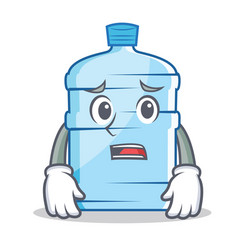 Afraid gallon character cartoon style vector