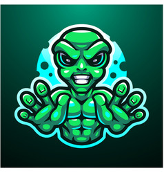 alien esport mascot logo design vector image