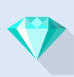 aquamarine stone icon flat style vector image
