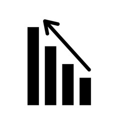 business graph with arrow financial stock data vector image