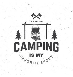 camping is my favorite sport vector image