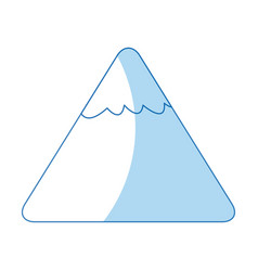 cartoon mountain snow nature image vector image