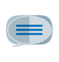 Chat bubble isolated vector