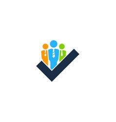 Check job logo icon design vector