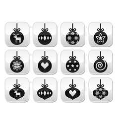 Christmas ball christmas bauble buttons vector image