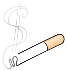Cigarette with smoke vector image