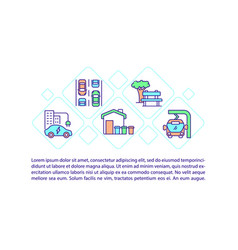 clean modern city concept line icons with text vector image