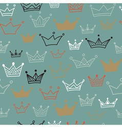 Crowns seamless pattern on dark background vector