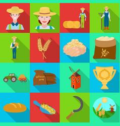 Design farm and arable logo collection vector
