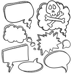 Doodle voice bubbles comic vector