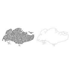 Dot contour map of singapore vector