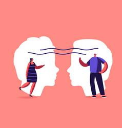 Empathy open mind emotional intelligence concept vector