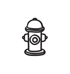 Fire hydrant sketch ico vector