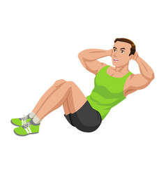 fitness exercising vector image