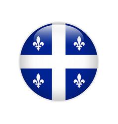 Flag quebec button vector