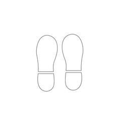 footprint flat icon vector image