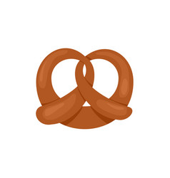 fresh pretzel icon flat style vector image