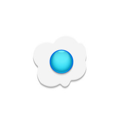 fried eggs with blue yolk top view isolated on the vector image
