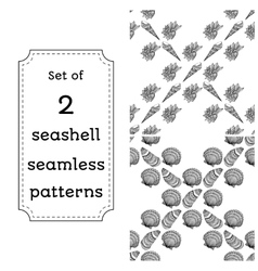 Geometric seamless pattern of seashells vector image