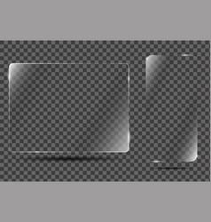 Glass frame on transparent background vector