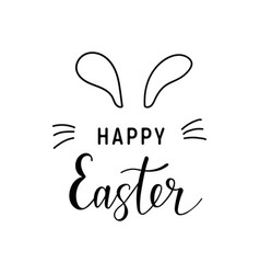 happy-easter-text-calligraphy vector image