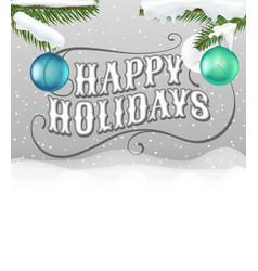happy holidays card greeting card retro style vector image