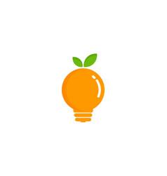 idea fruit logo icon design vector image