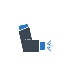 inhaler related glyph icon vector image