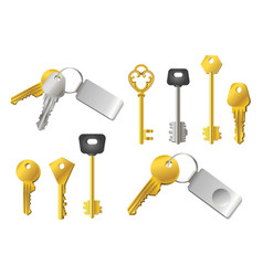 keys - realistic modern set of objects vector image