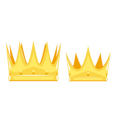 king and queen crown isolated vector image