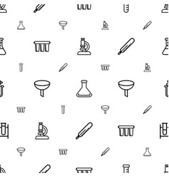 laboratory icons pattern seamless white background vector image