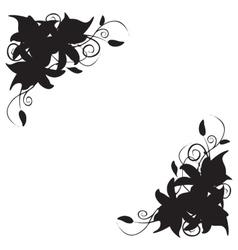 Lily corner ornament vector image
