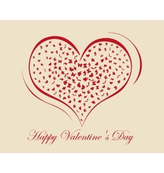 living heart on Valentine Day vector image