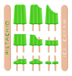 Logo for natural pistachio ice cream vector