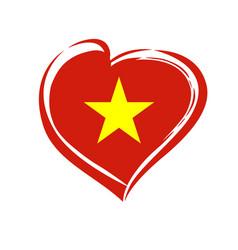 love vietnam emblem colored vector image